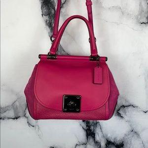 COACH Drifter pink leather satchel handbag NWT
